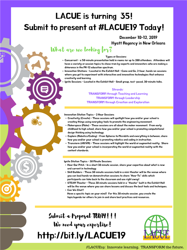 LACUE Proposal Flyer